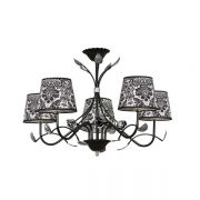Chandelier EMIBIG MERIDA 5 black