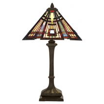 Tiffany Table lamp QUOIZEL Elstead Classic Craftsman
