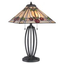 Tiffany Table lamp QUOIZEL Elstead RUBY