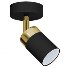 Spot lampa LUMINEX Joker black-gold 1548