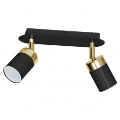Spot lamp LUMINEX Joker black-gold 1549