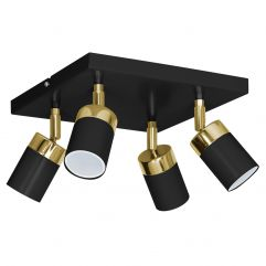 Spot lamp LUMINEX Joker black-gold 1551