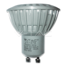 LED spuldze  - LED Spotlight - 5W GU10 White Plastic Warm White