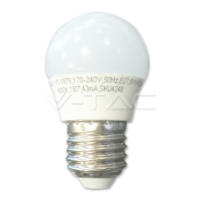 LED spuldze - LED Bulb - 6W E27 G45 Warm White