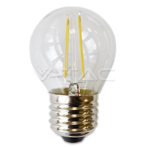 LED spuldze - LED Bulb - 2W Filament E27 G45 Warm White