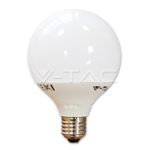 LED spuldze - LED Bulb - 10W G95 Е27 Thermoplastic White