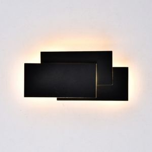 Sienas lampa V-TAC VT-712 12W LED Wall Light Black Body IP20 4000K