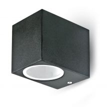 Outdoor wall architectural luminaire GU10 Lida IP44 black square 1187